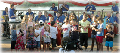 Guest percussionists, July 4, 2011
